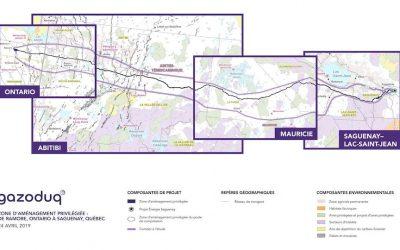 Gazoduq: Nouveau tracé