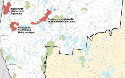 Aires protégées en Abitibi-Témiscamingue